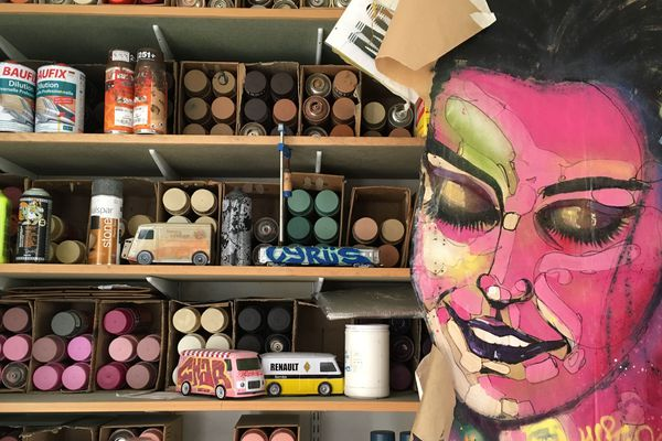 Atelier de l'artiste Calaisien de Street Art Vyrüs