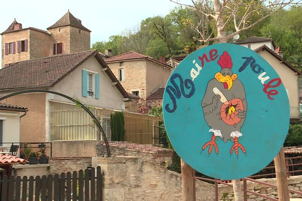 Le maire poule de Duravel