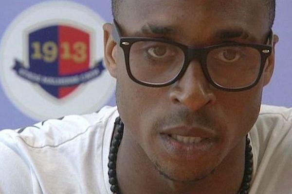 Jonathan Kodija, lors de la conférence de presse du SM Caen , 19 juin 2013