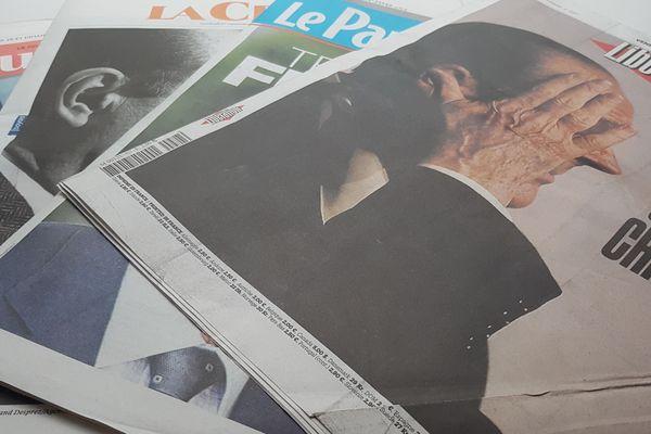 La plupart des journaux ont consacré leur Une à la mort de Jacques Chirac.