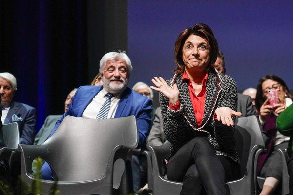 Archives. Le 10 janvier 2020, Martine Vassal candidate aux élections municipales  à Marseille, lors de la présentation des vœux dans les 6e et 8e arrondissements.