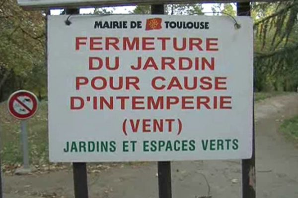 La mairie de Toulouse a fermé parcs et jardins