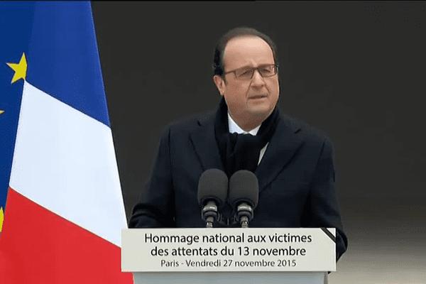 Le discours de François Hollande aux Invalides