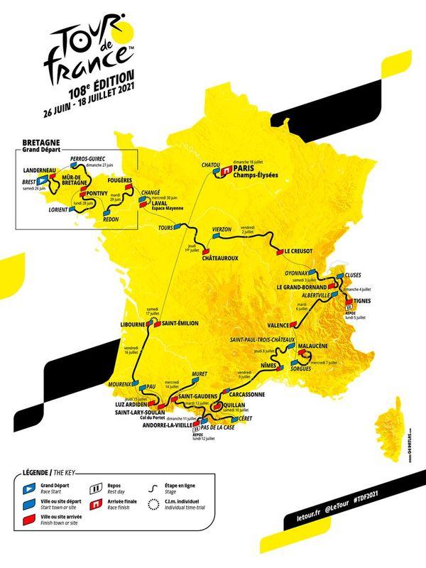 Le parcours du Tour de France 2021 devrait faire la part belle aux sprinteurs.