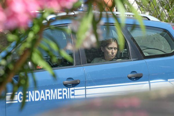 Sète (Hérault) - Audrey Louvet lors de la reconstitution du meurtre à la grotte - 23 juin 2017.