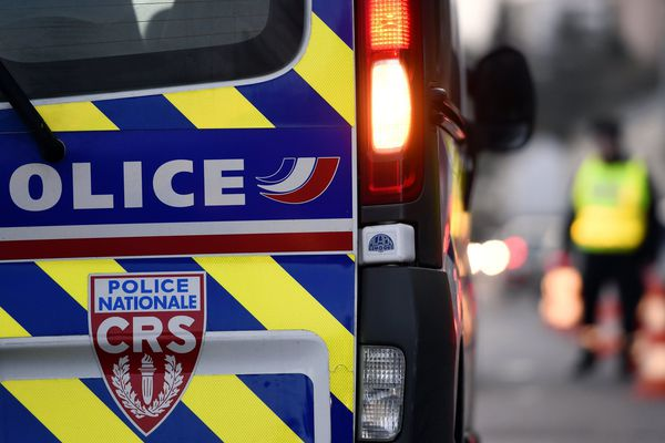 La police est intervenue sur la zone de l'accident.