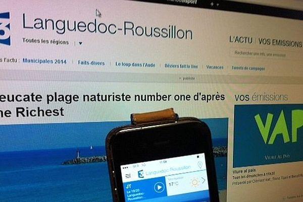 Le site de France 3 Languedoc-Roussillon disponible sur mobiles et tablettes