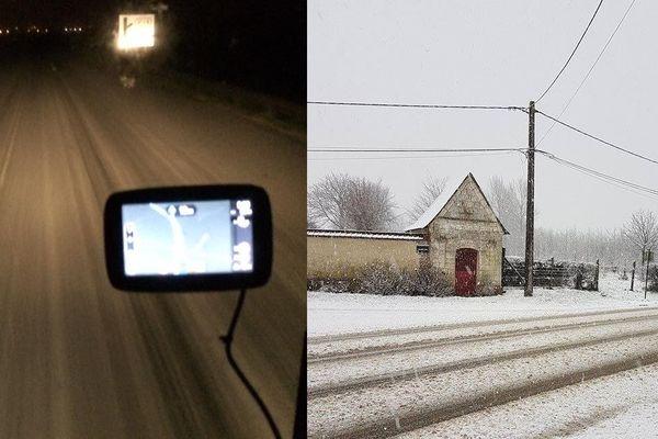 Chutes de grêle et de neige ici à Bergues et Hondschoote.