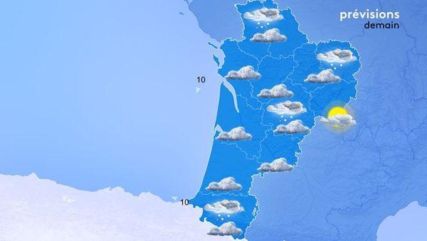 Encore quelques flocons de neige pour demain.
