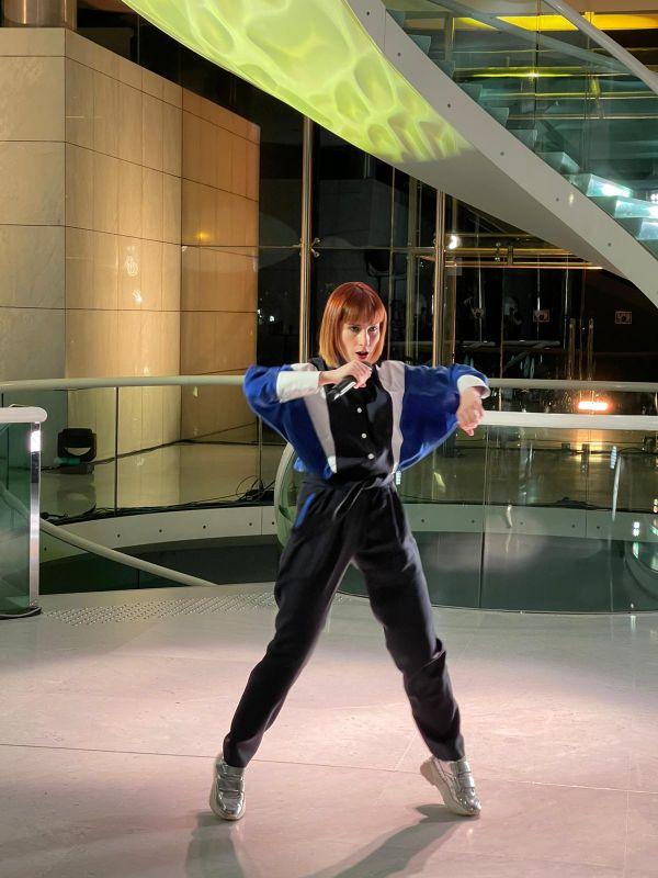 Suzane pendant l'enregistrement du concert au Musée des arts asiatiques de Nice