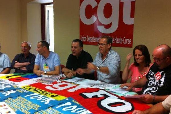 06/09/13 - L'union départementale CGT de Haute-Corse prépare la manifestation du 10 septembre