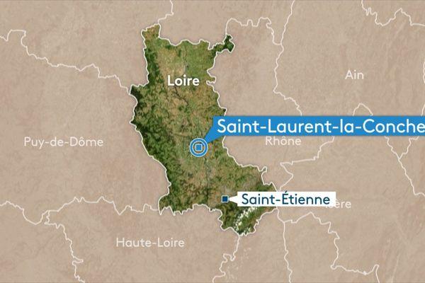 L'accident s'est produit sur la commune de Saint Laurent-la-Conche