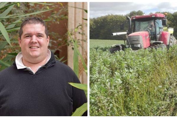 Charlin Hallouin, jeune agriculteur de 29 ans, reçu jeudi avec 999 autres agriculteurs  de France à l'Elysée, sur une invitation d'Emmanuel Macron.