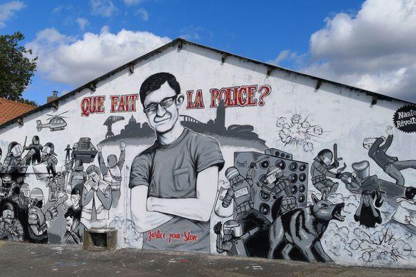 La fresque pour Steve quai Wilson, Nantes