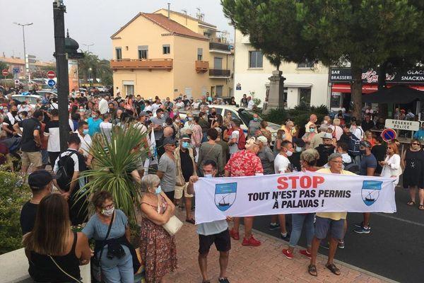 Excédés, les habitants ont manifesté dans le centre-ville de Palavas - 07.08.20