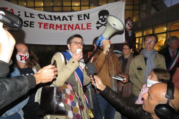 Le collectif demandait l'abandon du projet du Terminal 4, chose qui a été annoncée en février dernier par le gouvernement.