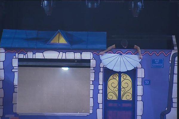 Un des décors du spectacle d'Aldebert, à Ludres (54)