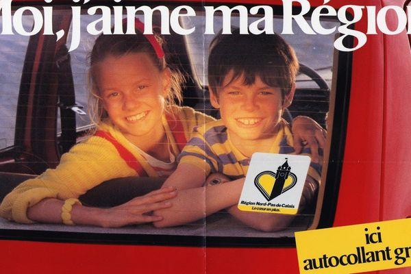 Publicité de la région Nord Pas-de-Calais en 1982.