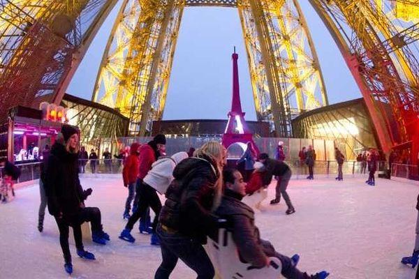 Ce week-end, venez patiner sur la Tour Eiffel
