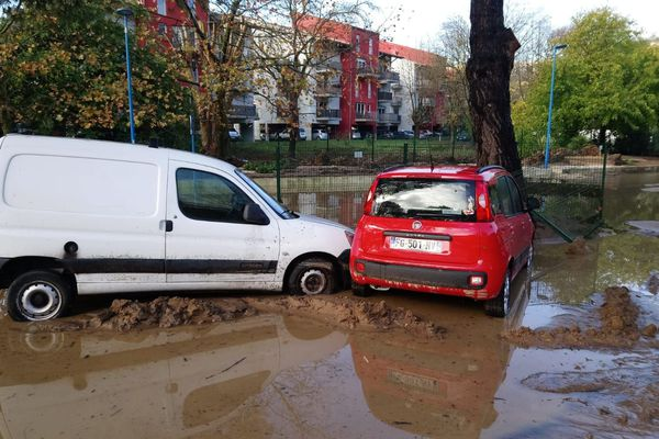 Mandelieu - La Napoule suite aux inondations survenues du 22 au 24 novembre.