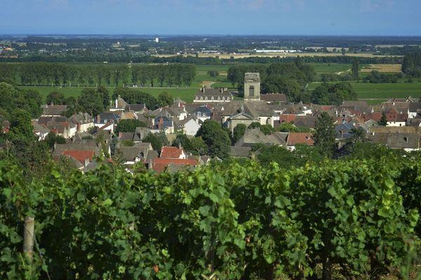 Le village de Pommard en Côte-d'Or