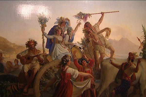 Oeuvre finale - Léopold Robert - Le Retour de la fête de la Madone de l'Arc, près de Naples, 1827 - Musée du Louvre