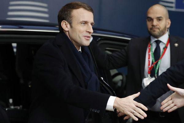 Emmanuel Macron, à Bruxelles ce vendredi.