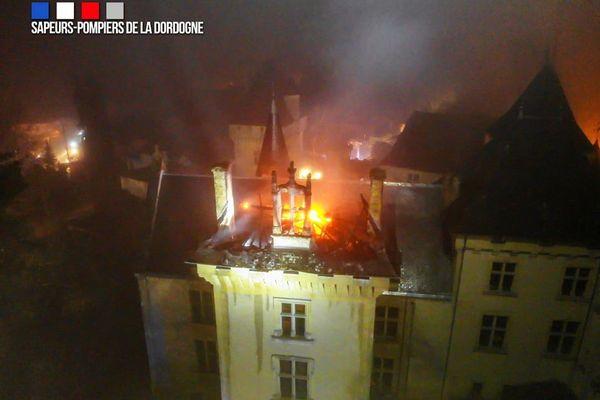 Spectaculaire photo prise par les pompiers de Dordogne lors de leur intervention