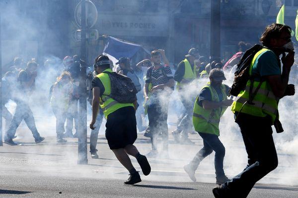 Le rassemblement des gilets jaunes à Paris le 20 avril dernier: des images que Strasbourg n'a aucune envie de voir ce samedi 27 avril.