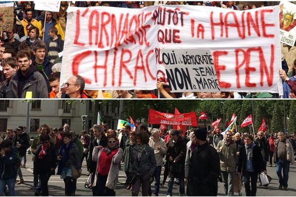 40 000 personnes dans les rues de Nantes le 1er mai 2002, 4500 le 1er mai 2017