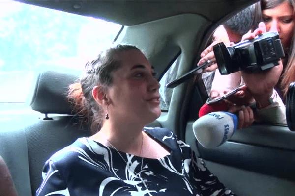 Aurore Gros-Coissy à sa sortie de prison