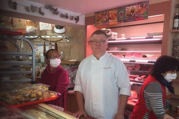 Christian Nosal, Président de la Fédération des bouchers charcutiers traiteurs du Grand Est, propose des livraisons à domicile gratuites.