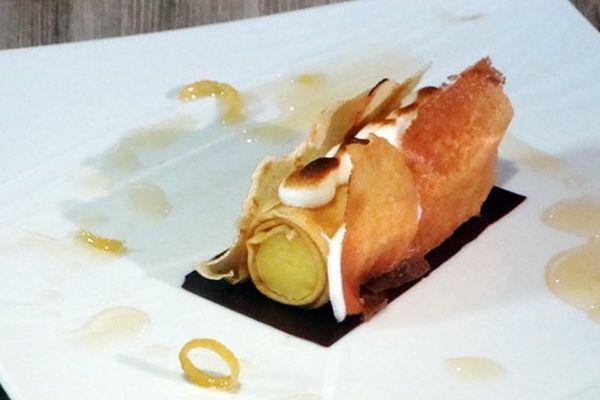 Crêpe façon tarte au citron meringuée par Sandrine Brizard