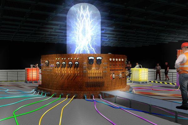 La mer source d'énergie, détail de la scénographie présentée dans le Hall 1 d'Exponantes lors de la mer XXL