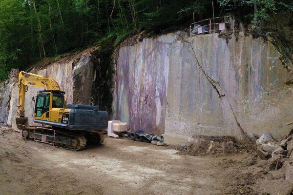 La carrière de marbre sur la commune de Saint-Lary en Ariège
