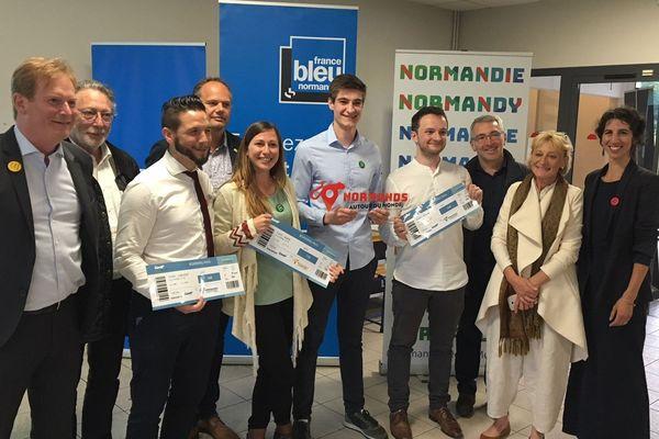 """L'annonce du nom des 5 lauréats du concours """"Normands autour du monde"""" le 6 juin 2018 à Caen"""