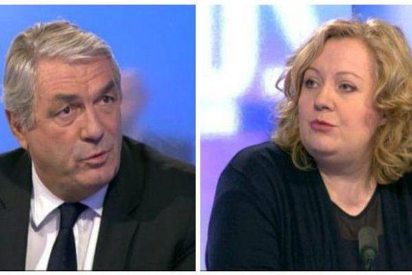 François Sauvadet, président du groupe de l'Union des Républicains, de la Droite et du Centre au conseil régional de Bourgogne Franche-Comté, et Sophie Montel, présidente du groupe FN.