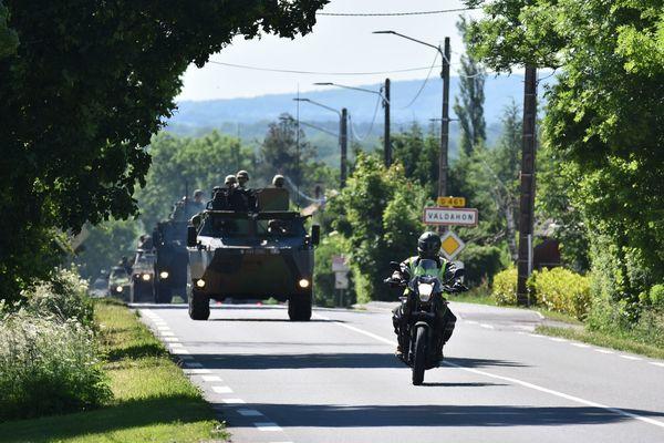 Près de 150 véhicules blindés participent à cet exercice militaire dans le Doubs