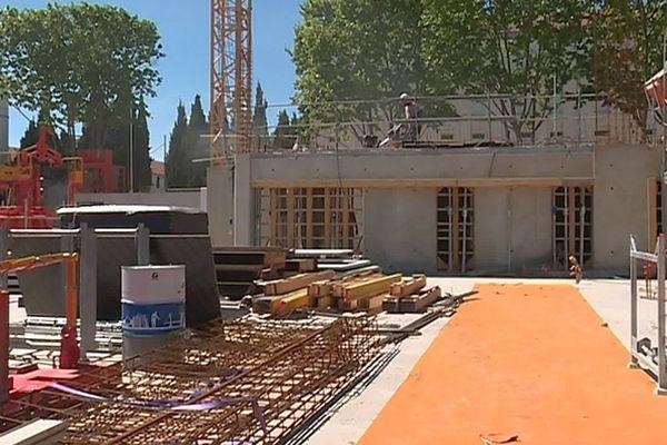 Montpellier - les travaux sur le site de l'ESMA, l'Ecole supérieure des métiers artistiques - mai 2019.