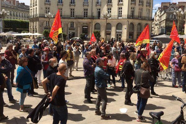 Près de 200 intermittents du spectacle mobilisés à Nantes, le 6 juin 2020