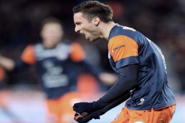Montpellier - Emmanuel Herrera, l'Argentin du MHSC vient de marquer un but - 26 janvier 2013.