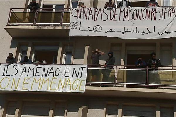 Des migrants ont investi un immeuble de l'avenue de Stalingrad, à Dijon.