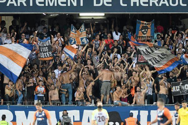 Les supporters montpelliérains, le 14 septembre 2019, à La Mosson contre Nice.