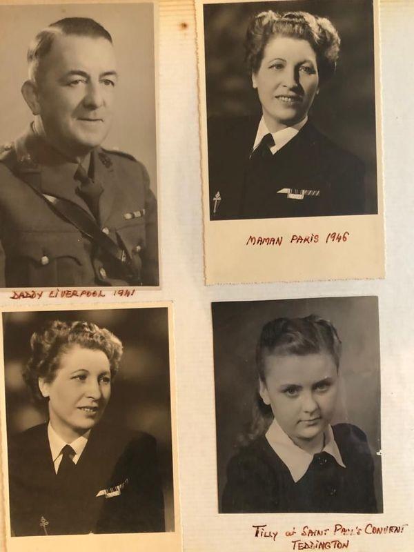 La famille Bravery, Charles, Mathilde et Tilly, dans les années 1940