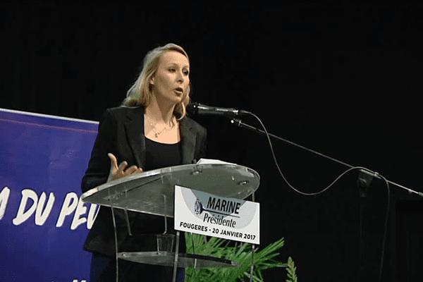 Marion Maréchal-Le Pen lors de son meeting à Fougères le 20 janvier 2017