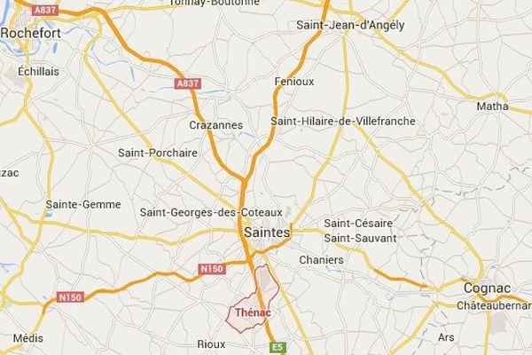 L'accident s'est déroulé sur la commune de Thénac, en Charente-Maritime.