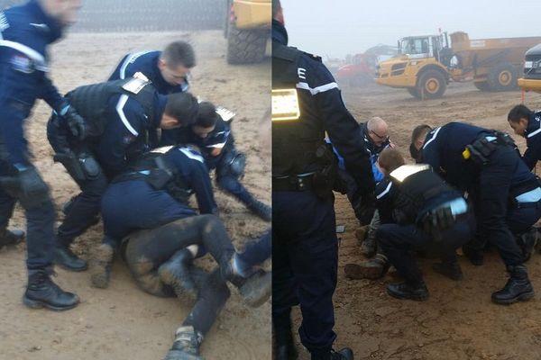 Images de l'arrestation d'Anatole diffusée par les militants sur les réseaux sociaux.