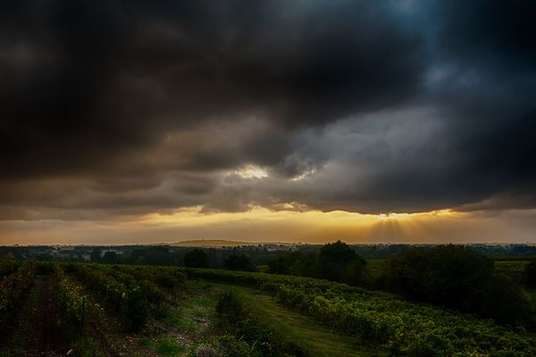 """ October rainy sunset "" by fra298"