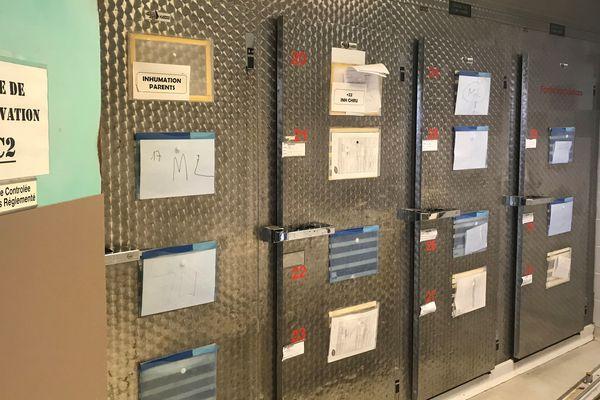 Montpellier : la morgue du CHU - 16 juillet 2019.