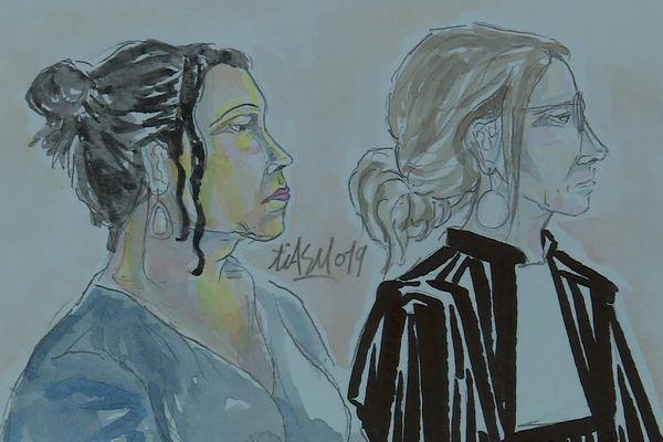 Zuleika, compagne d'infortune de Lucha, en compagnie de son avocat